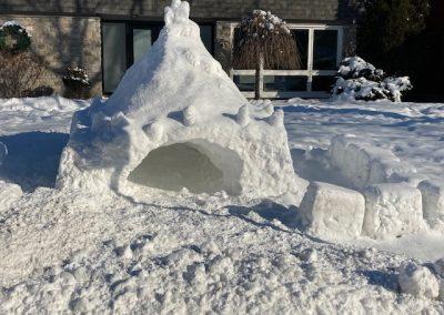 Snow fort
